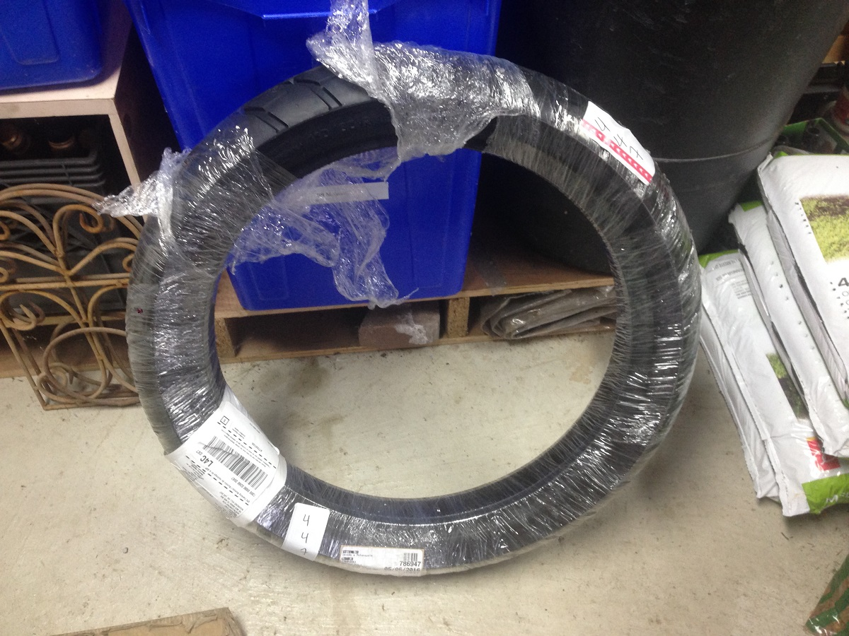 New front tire